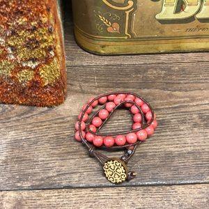 Jewelry - Handmade Wrap Bracelet Beads Boho Hippie
